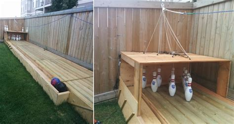 diy backyard bowling alley diy backyard bowling alley home design garden