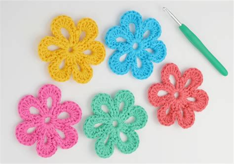 flower pattern crochet for beginners easy crochet flower pattern beginners squareone for