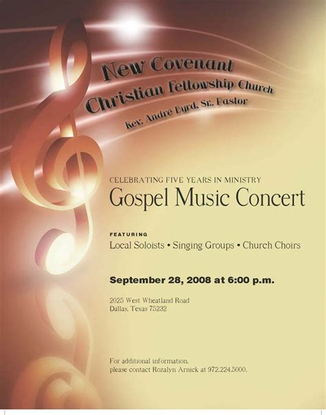 Gospel Concert Flyer Template Free