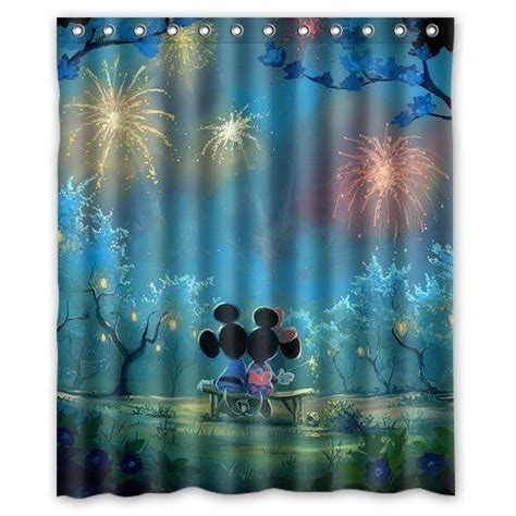 disney fabric shower curtain artswow custom waterproof polyester fabric disney cartoon