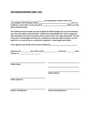 a sample of iou letter fill online, printable, fillable