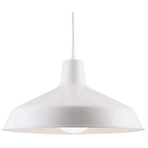 westinghouse 1 light white interior pendant 6619800 the home depot