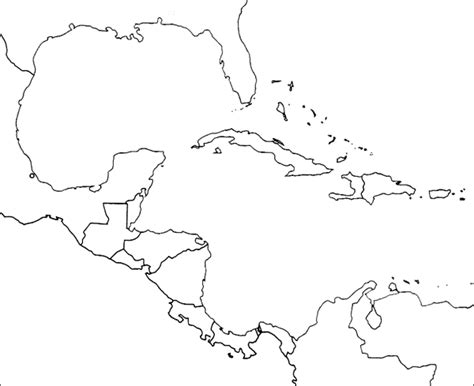 map outline of central america a blank map of central america