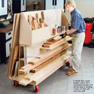 for the workshop material storage on pinterest lumber storage workshop cart rolling cart for wood pieces would double