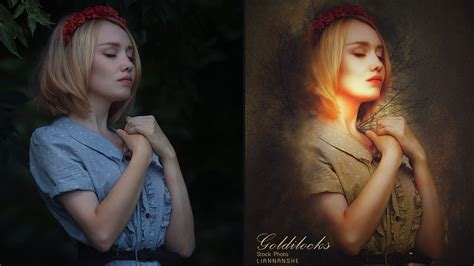 tutorial edit vscom digital art photoshop tutorial goldilocks photo effect