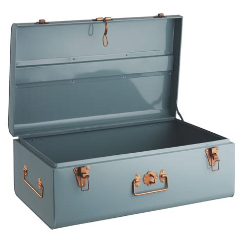 Small Kitchen Lighting by Trunk Blue Metal Storage Trunk Buy Now At Habitat Uk