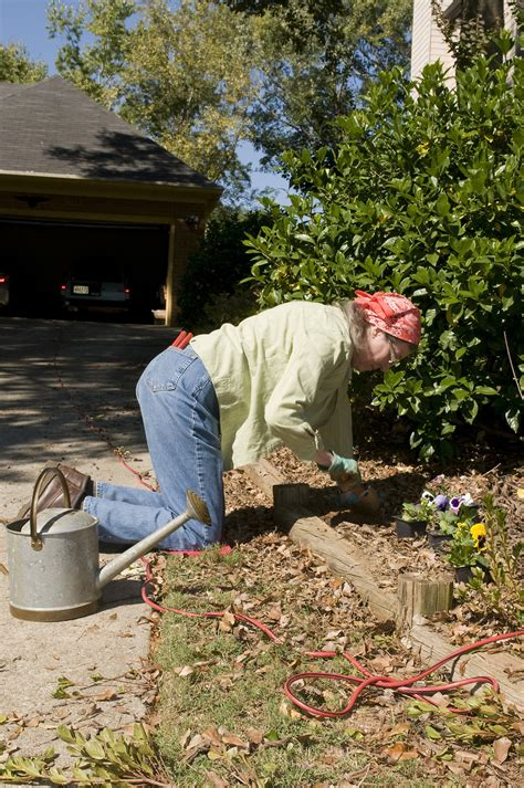 Is Working In The Garden by Garden Free Stock Photo A Working In Garden
