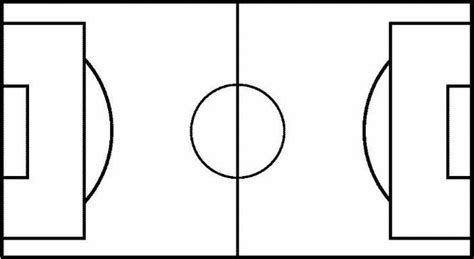 blank football field diagram page printable soccer field diagram clipart best