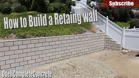 How To Build A Retaining Wall Diy Doovi How To Build A Garden Wall On A Slope