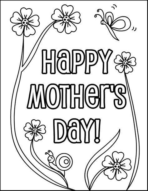 mothers day coloring pages for kindergarten it s a mother s day coloring page for kids so grab your