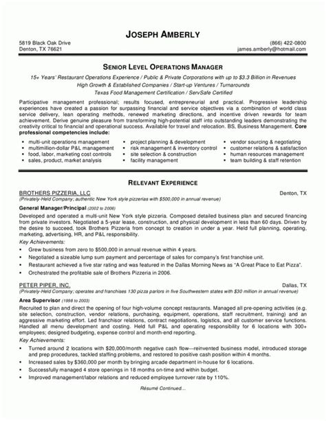 bar manager resume objective resume sles