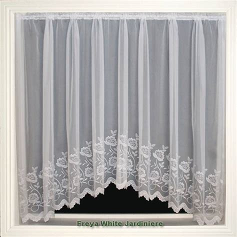 jardiniere net curtains uk freya white voile jardiniere net curtain 2 curtains