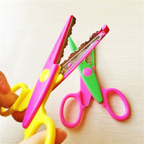 Paper And Scissors Crafts - 6pcs per set diy craft scissors wave edge craft school