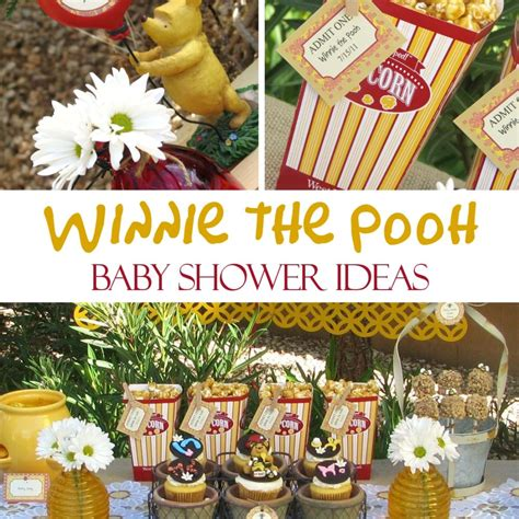 Classic Winnie The Pooh Baby Shower Ideas by Winnie The Pooh Baby Shower Ideas Food Favors