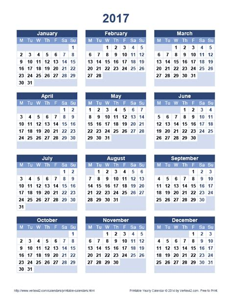 printable calendar yearly 2017 2017 large printable calendar calendar template 2016