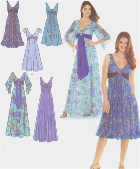 free pattern empire waist dress simplicity sewing pattern 3785 womens sexy v neck by