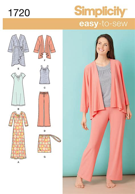 pattern review simplicity 2255 simplicity 1720 misses loungewear