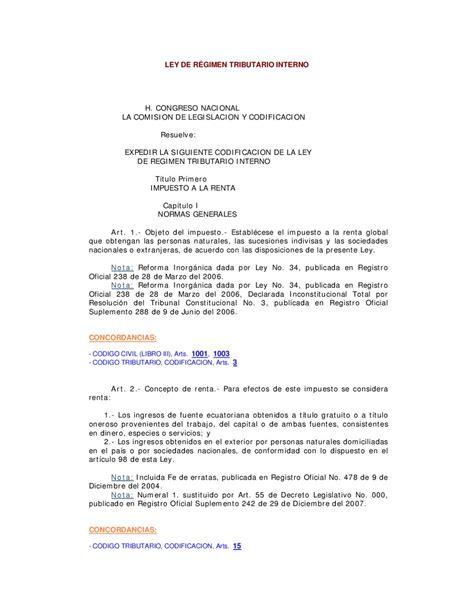 ley reglamento tributario 2016 ley de regimen tributario interno actualizada new style