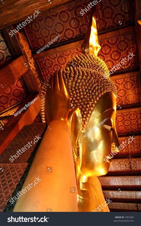 golden reclining buddha bangkok golden reclining buddha wat pho bangkok thailand stock
