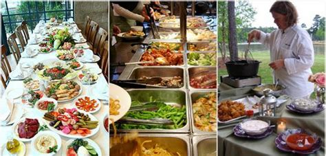 southern comfort food buffet for weddings sit down