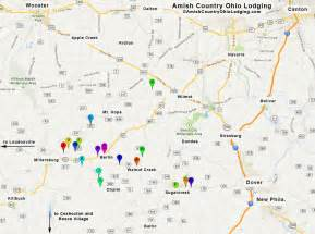 Amish Country Ohio Map by Lodging Map