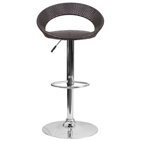 Low Back Wicker Bar Stools by Wicker Low Back Adjustable Bar Stool In Brown Ds