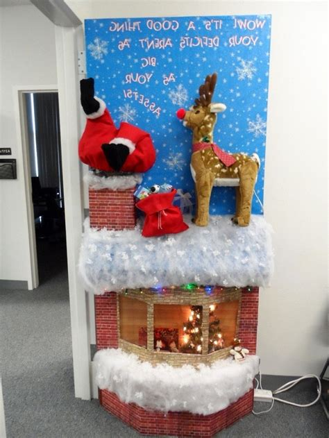 funny christmas door office contest 40 and humorous decorations that will leave you in splits