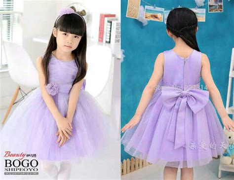 Dress Pesta Ungu baju dress pesta ungu anak perempuan cantik model terbaru