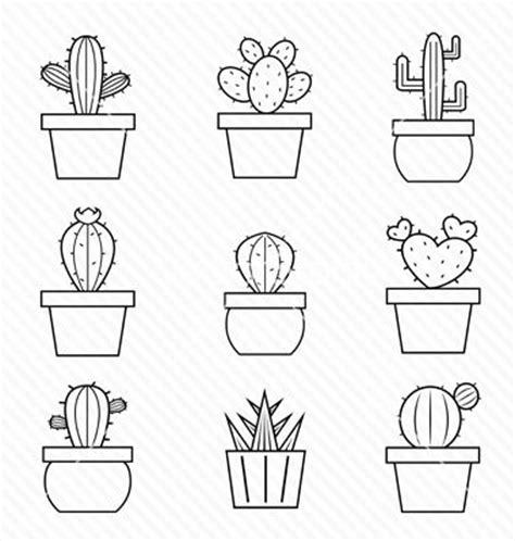 dibujo de cactus con sombrero para colorear las 25 mejores ideas sobre cactus dibujo en pinterest