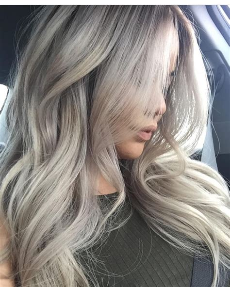 ash blond with grey highlights ash white blonde hair www amandamajor com delray