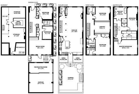 new york townhouse floor plans 6sqft boerum hill townhouse floor plan
