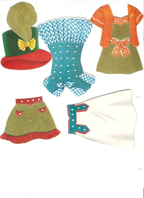 Paper Dolly Pouch 1 à â í á â í à â polly and molly and their dolls 1958 paper dolls collections dolls â
