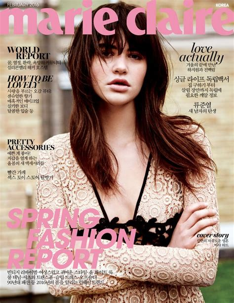 design magazine korea marieclaire february 2016 cover design by chosangrae