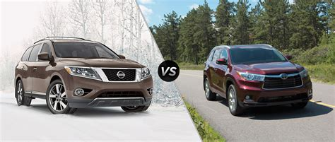 toyota highlander vs nissan pathfinder pathfinder vs highlander autos post