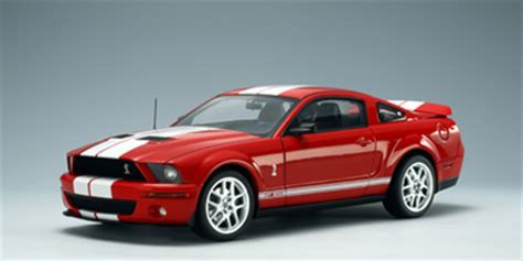 autoart: ford shelby cobra gt 500 production version  red
