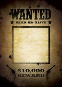 1920s wanted poster template 10 great wanted poster template collection