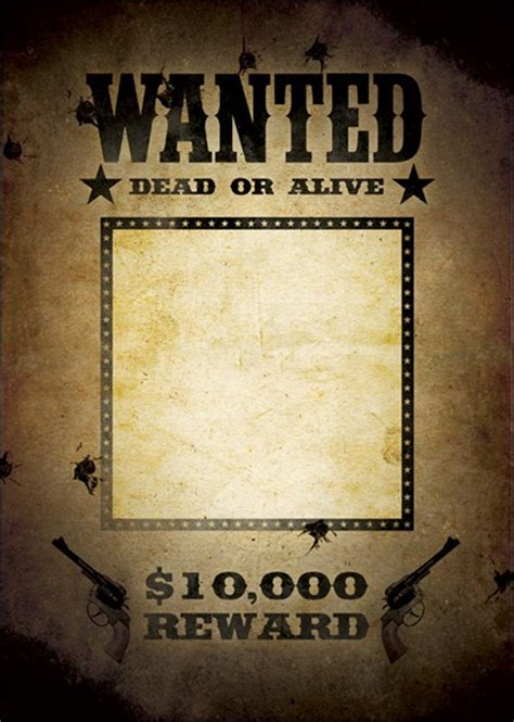 10 Great Wanted Poster Template Collection Wanted Poster Template Microsoft Word