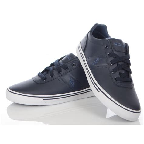 ralph shoes ralph shoes navy hanford leather trainer ralph