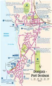 denison map dongara tourist park location dongara western australia