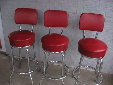 Vintage 1950s Bar Stools by Three 3 Vintage Retro 1950s 1960s Bar Stools Excellent