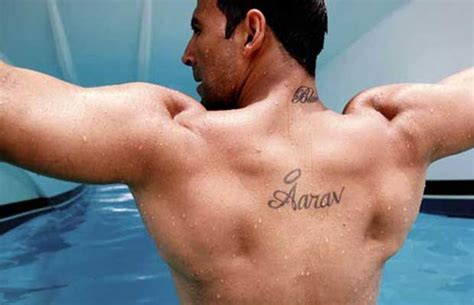 bollywood celebs and their tattoos akshay kumar on back akshayy