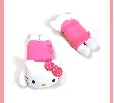 Smanate 02 Cushion Cover White Pink hello armrest cushion pink bow pillow cushion