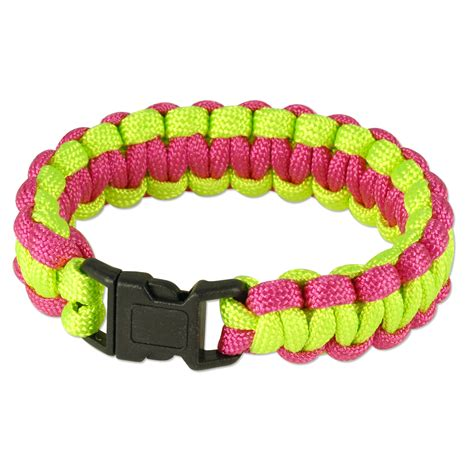 two color paracord bracelet 7 quot two tone color paracord bracelet 7 quot x3 4 quot neon green