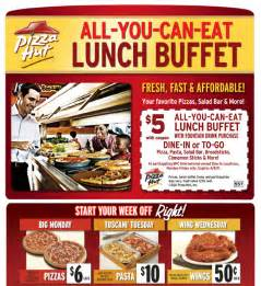 pizza hut coupons for buffet pizza hut 5 free lunch buffet coupon askstudent