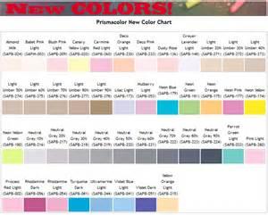 prismacolor marker color chart overview