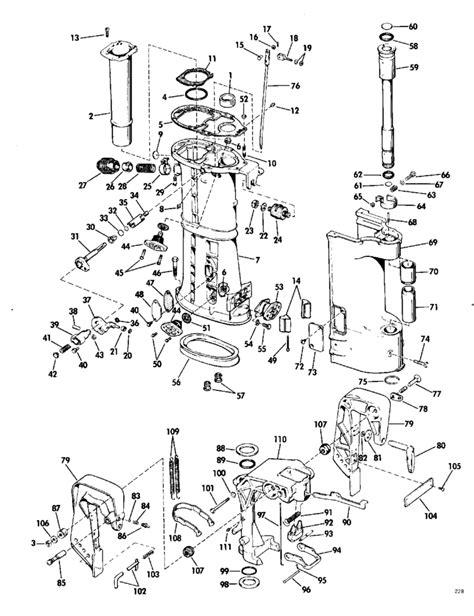 evinrude lower unit diagram evinrude lower unit grop parts for 1968 40hp 40802s