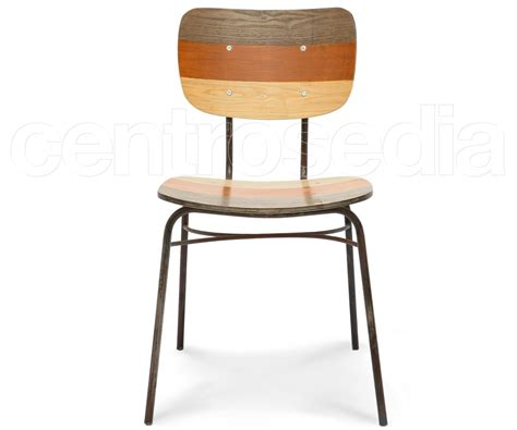 sedie vintage olivier sedia metallo legno colorata sedie vintage e