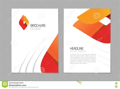 book layout eps brochure flyer vector design a4 booklet layout template