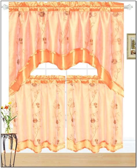 Orange Kitchen Curtains Orange Kitchen Curtains With Best Yellow Design Trends Picture Solid Decoregrupo