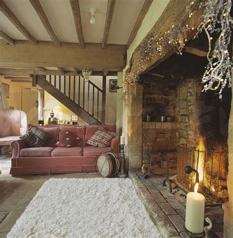Livingroom Colours Image Beamed Country Living Room With Sheepskin Rug In